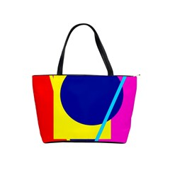 Colorful geometric design Shoulder Handbags
