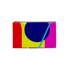 Colorful geometric design Cosmetic Bag (Small)