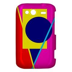 Colorful geometric design HTC Wildfire S A510e Hardshell Case