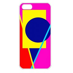Colorful geometric design Apple iPhone 5 Seamless Case (White)