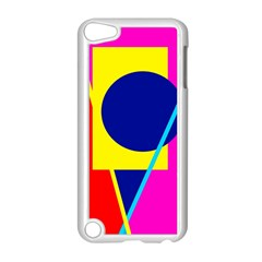 Colorful geometric design Apple iPod Touch 5 Case (White)