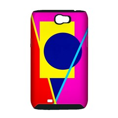 Colorful geometric design Samsung Galaxy Note 2 Hardshell Case (PC+Silicone)