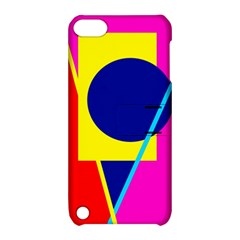 Colorful geometric design Apple iPod Touch 5 Hardshell Case with Stand