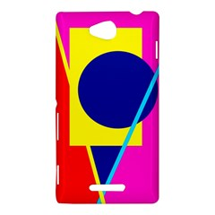 Colorful geometric design Sony Xperia C (S39H)