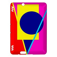 Colorful geometric design Kindle Fire HDX Hardshell Case