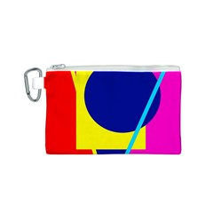 Colorful geometric design Canvas Cosmetic Bag (S)