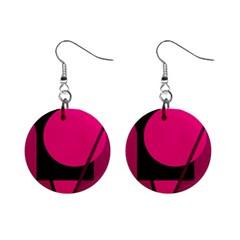 Decorative geometric design Mini Button Earrings