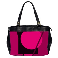 Decorative geometric design Office Handbags (2 Sides)