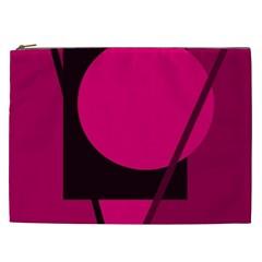 Decorative geometric design Cosmetic Bag (XXL)