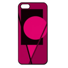 Decorative geometric design Apple iPhone 5 Seamless Case (Black)