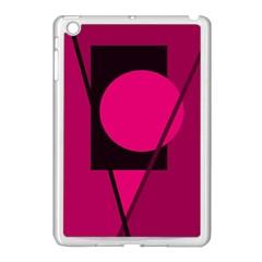 Decorative geometric design Apple iPad Mini Case (White)