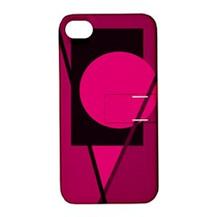 Decorative geometric design Apple iPhone 4/4S Hardshell Case with Stand