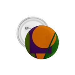 Green and orange geometric design 1.75  Buttons