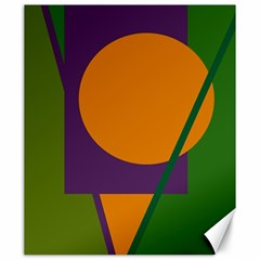 Green and orange geometric design Canvas 20  x 24
