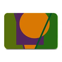 Green and orange geometric design Plate Mats