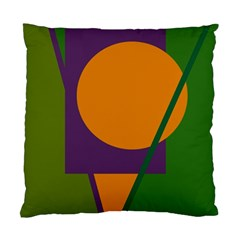 Green and orange geometric design Standard Cushion Case (Two Sides)