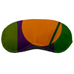 Green and orange geometric design Sleeping Masks