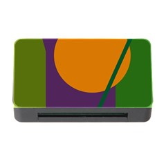 Green and orange geometric design Memory Card Reader with CF