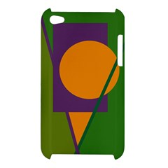 Green and orange geometric design Apple iPod Touch 4