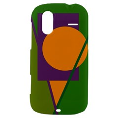 Green and orange geometric design HTC Amaze 4G Hardshell Case