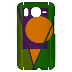 Green and orange geometric design HTC Desire HD Hardshell Case