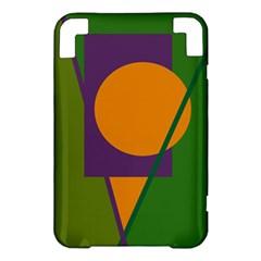 Green and orange geometric design Kindle 3 Keyboard 3G