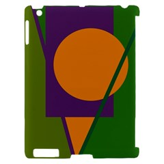 Green and orange geometric design Apple iPad 2 Hardshell Case (Compatible with Smart Cover)