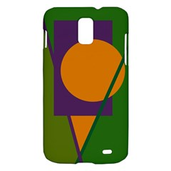 Green and orange geometric design Samsung Galaxy S II Skyrocket Hardshell Case
