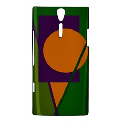 Green and orange geometric design Sony Xperia S