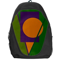 Green and orange geometric design Backpack Bag