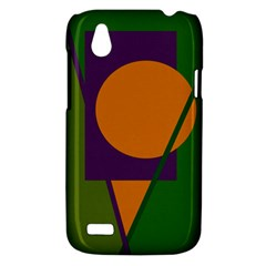 Green and orange geometric design HTC Desire V (T328W) Hardshell Case