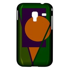 Green and orange geometric design Samsung Galaxy Ace Plus S7500 Hardshell Case