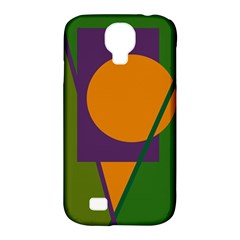 Green and orange geometric design Samsung Galaxy S4 Classic Hardshell Case (PC+Silicone)