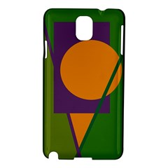 Green and orange geometric design Samsung Galaxy Note 3 N9005 Hardshell Case