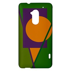 Green and orange geometric design HTC One Max (T6) Hardshell Case