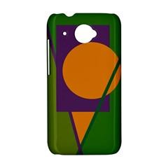 Green and orange geometric design HTC Desire 601 Hardshell Case