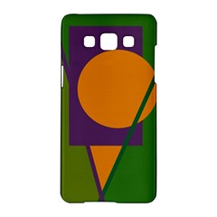 Green and orange geometric design Samsung Galaxy A5 Hardshell Case