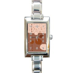 Brown abstract design Rectangle Italian Charm Watch