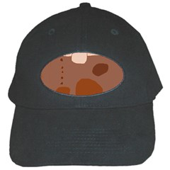 Brown abstract design Black Cap
