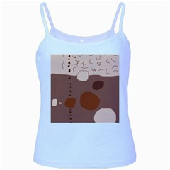 Brown abstract design Baby Blue Spaghetti Tank