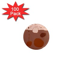 Brown abstract design 1  Mini Magnets (100 pack)