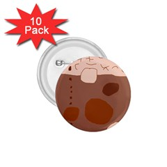 Brown abstract design 1.75  Buttons (10 pack)