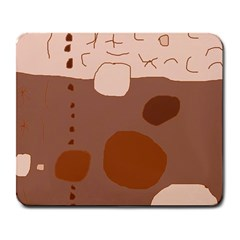 Brown abstract design Large Mousepads