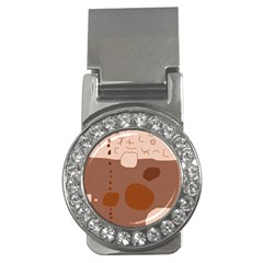 Brown abstract design Money Clips (CZ)