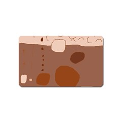 Brown abstract design Magnet (Name Card)