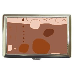 Brown abstract design Cigarette Money Cases