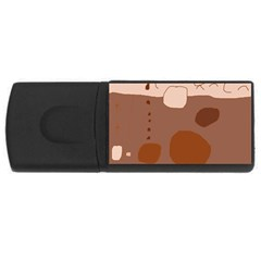 Brown abstract design USB Flash Drive Rectangular (1 GB)