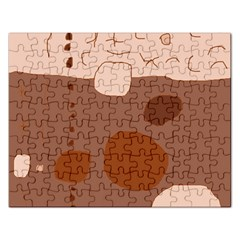 Brown abstract design Rectangular Jigsaw Puzzl