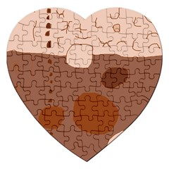 Brown abstract design Jigsaw Puzzle (Heart)