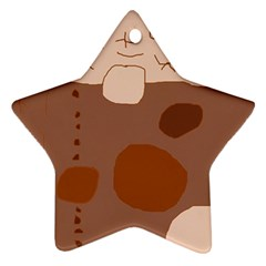 Brown abstract design Star Ornament (Two Sides)